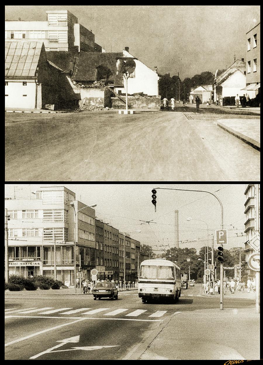 ulice - křižovatka na Dlouhé