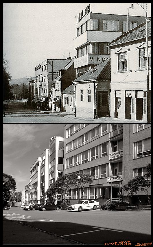 ulice - Bartošova  od východu