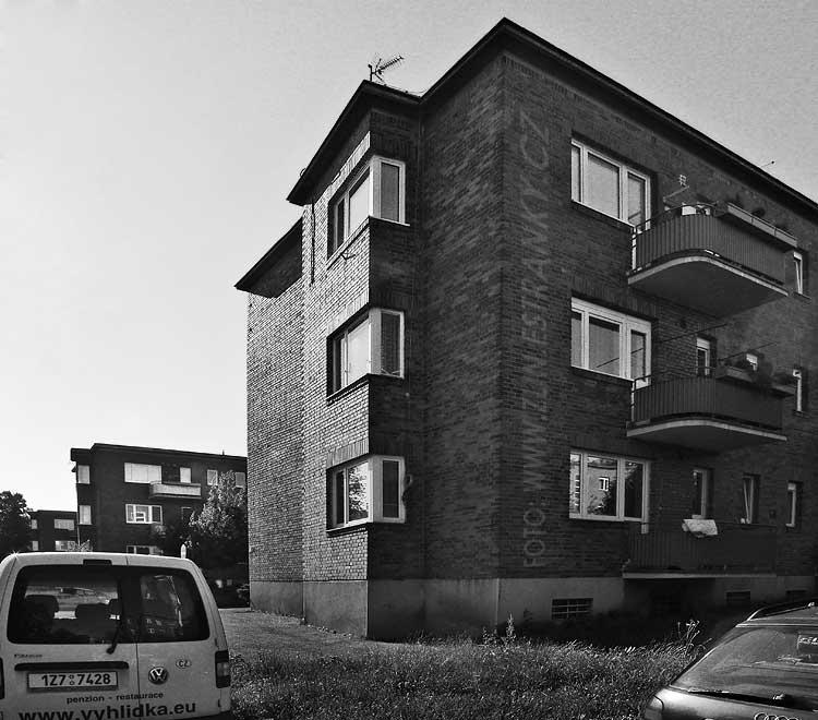 1947-49 - Čtvrť Julia Fučíka - III. blok ze západu